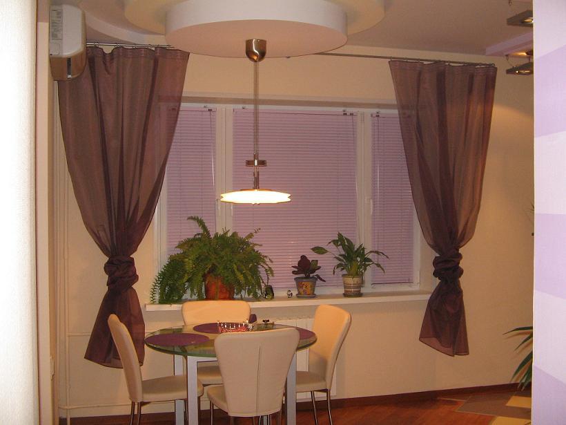 Дизайн с жалюзи и шторы